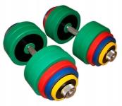 Гантели разборные цветные по 60 кг в наборе пара