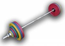 Штанга рекордная олимпийская 182,5 кг в наборе