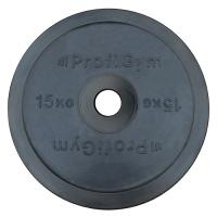 Диск олимпийский 15 кг, черный