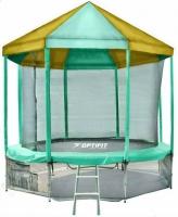Батут OPTIFIT 10 FT (305 см) с зелено-желтой крышей