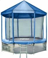 Батут OPTIFIT 10 FT (305 см) с синей крышей