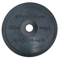 Диск олимпийский 10 кг, черный