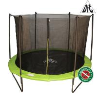 Батут DFC JUMP 12ft (366 см) складной, c сеткой, цвет apple green