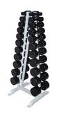 Гантельный ряд обрезиненный от 1 до 10кг с шагом 1 кг (10пар)