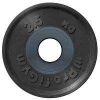 Диск олимпийский 2,5 кг, черный
