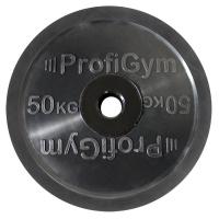 Диск олимпийский 50 кг, черный