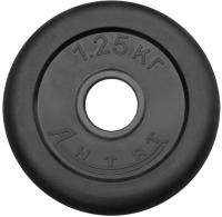Диск тренировочный черный Антат 1,25 кг (26, 31, 51 мм)