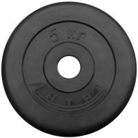 Диск тренировочный черный 5 кг (26, 31, 51 мм)