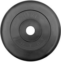 Диск тренировочный черный Антат 10 кг (26, 31, 51 мм)