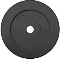 Диск тренировочный черный Антат 15 кг (26, 31, 51 мм)