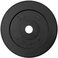 Диск тренировочный черный Антат 20 кг (26, 31, 51 мм)