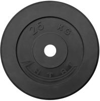Диск тренировочный черный Антат 25 кг (26, 31, 51 мм)