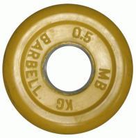 Диск тренировочный цветной 0,5 кг (26, 31, 51 мм)