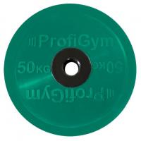Диск олимпийский 50 кг, зеленый