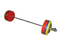 Штанга рекордная для пауэрлифтинга,  282,5 кг в наборе