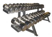 Гантельный ряд хромированный от 12,5 до 40 кг с шагом 2,5 кг (12 пар)