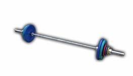 Штанга с грифом 2200*50мм, 102,5 кг в наборе, диски обрезиненные цветные Анат