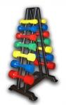 Гантельный ряд цветной с полимерным покрытием от 1 до 10 кг (10 пар)
