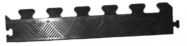 Бордюр для коврика MB Barbell (12мм черный)
