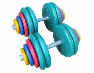 Гантели разборные обрезиненные цветные по 60 кг в наборе пара