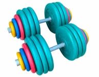 Гантели разборные обрезиненные цветные по 80 кг в наборе пара