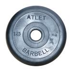 Диск черный MB Barbell Atlet 1,25 кг 26 мм