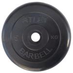 Диск черный MB Barbell Atlet 5 кг 26 мм
