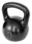 Черная тренировочная гиря 5 кг