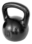 Черная тренировочная гиря 6 кг
