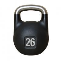 Черная тренировочная гиря 26 кг