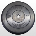 Диск Черный MB Barbell Atlet 25 кг 26 мм