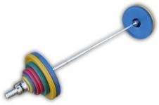 Штанга рекордная олимпийская 142,5 кг в наборе