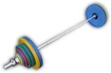 Штанга рекордная олимпийская 152,5 кг в наборе