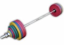 Штанга рекордная олимпийская 252,5 кг в наборе