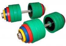 Гантели разборные цветные по 80 кг в наборе пара
