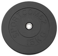 Диск черный Sportcom 15 кг 26 мм