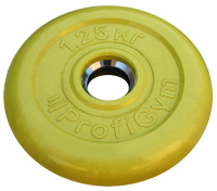 Диск тренировочный черный Profigym 1,25 кг (26, 31, 51 мм)
